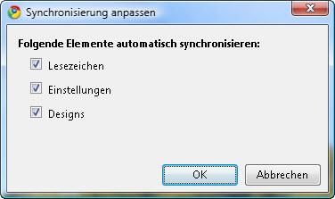 google-sync-anpassen