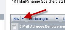 Button Neue E-Mail bei 1&1