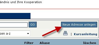 Button Neue E-Mail bei Strato
