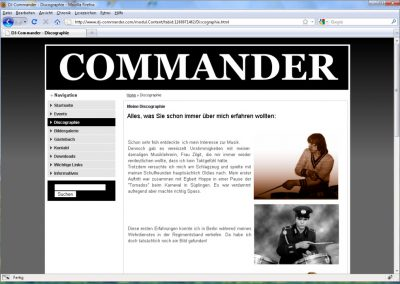 Homepage für DJ-Commander aus Haldensleben