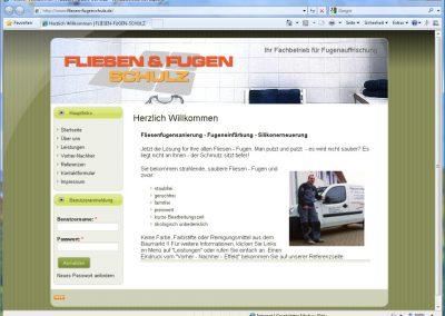 Webseite der Firma Fliesen & Fugen Schulz