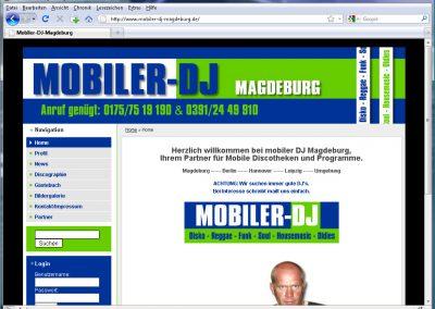 Webseite für den DJ Feuerstuhl aus Magdeburg