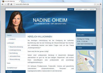 Webseite Steuerberater Nadine Oheim