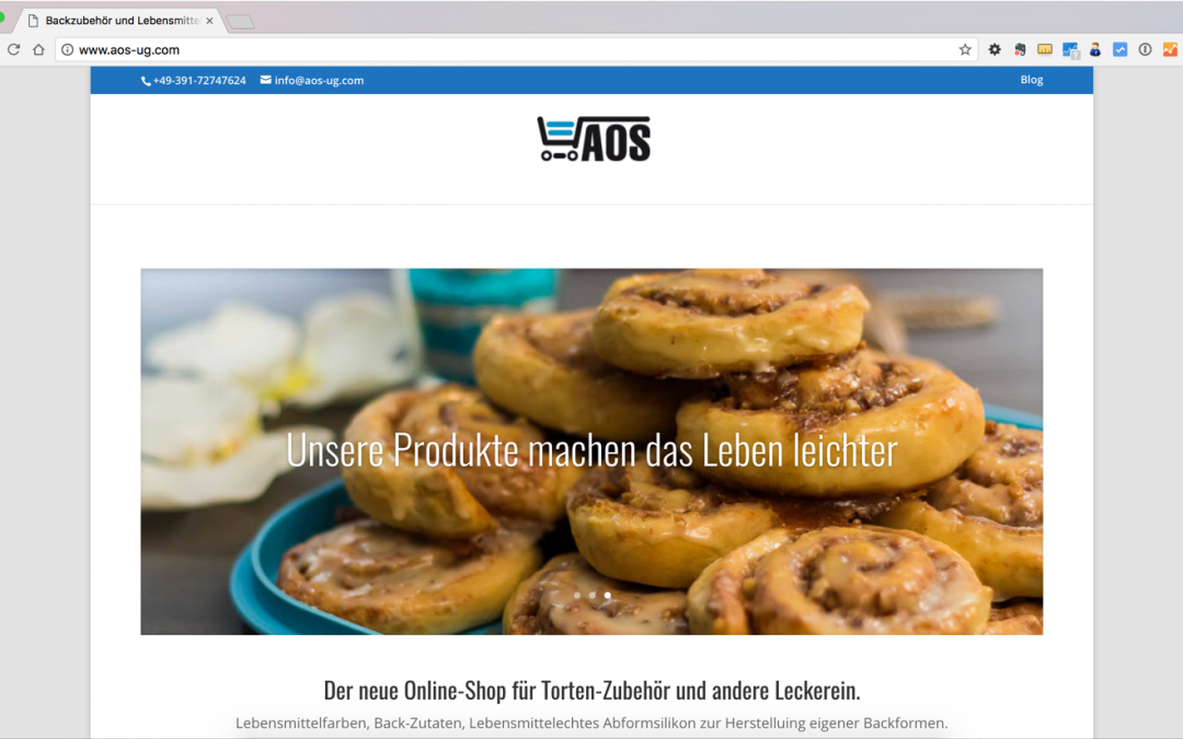 Webseite der AOS UG