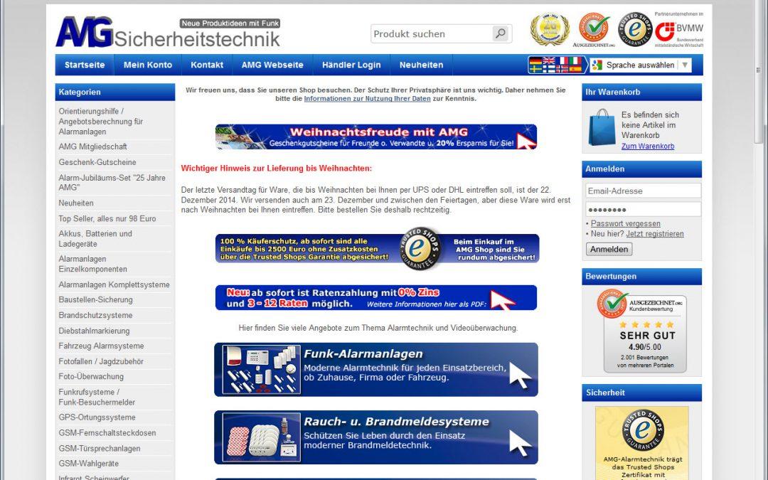 Webshop AMG-Alarmtechnik