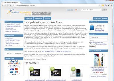 Online-Shop Laserscanning-Europe