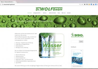 Webseite für ein Ingenieurbüro für Wasseraufbereitung