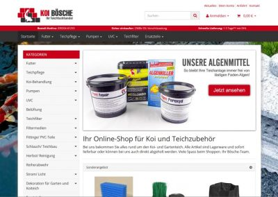 Relaunch des Shops Koi-Bösche